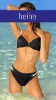 Push-up Bikini schwarz-weiß von heine Gr. 40 D-Cup - OVP - NEU