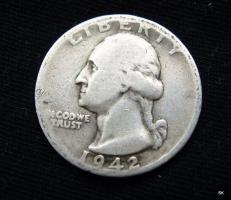 Quarter Dollar 1942 D