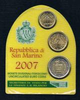 REPUBBLICA di SAN MARINO Offizieller Euro Mini Kursmünzensatz 2007 Prägefrisch .