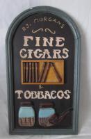RJ Morgans Cigars - Holzschild – Werbeschild – Werbung 40x23 cm - selten
