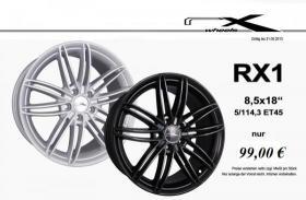 RX Wheels RX 1  18 Zoll LK 5/114