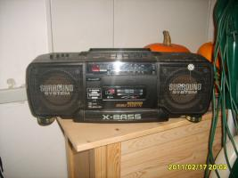 Radio mit Doppelkassetten-Laufwerk