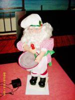 Rarietät! Weihnachtsmann Rührt Teig Schüssel