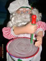 Foto 3 Rarietät! Weihnachtsmann Rührt Teig Schüssel