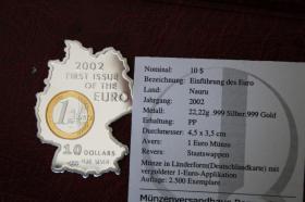 Rarität - Silbermünze in Länderform - 22g - DE in PP nur 22 EUR + Porto