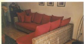 Rattan-Couch