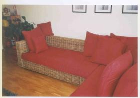 Foto 2 Rattan-Couch