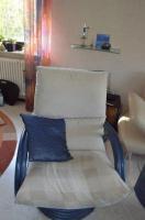 Rattan Dreh-Wipp Relaxsessel azulblau wie neu