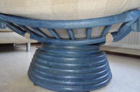 Foto 2 Rattan Dreh-Wipp Relaxsessel azulblau wie neu