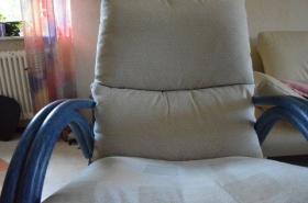 Foto 3 Rattan Dreh-Wipp Relaxsessel azulblau wie neu