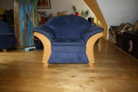 Foto 2 Recamiere und Sessel aus Rattan- Superschön und bequem!