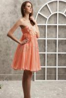 Foto 3 Rechteck ger�schtes tr�gerloses kurzes Homecoming Kleid - Dameo.de