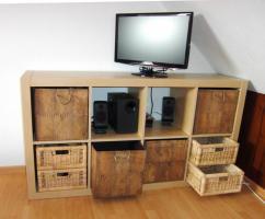 regal expedit ikea 4x2 f cher 79x39x149cm mit k rben wie. Black Bedroom Furniture Sets. Home Design Ideas