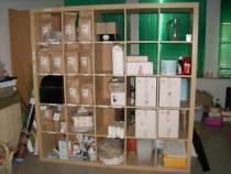 Regal bzw. auch Raumteiler, helles Holz