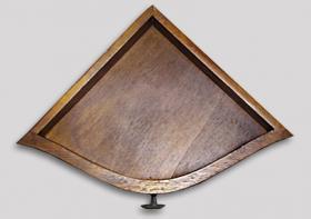 Foto 5 Regal, Eckwandkonsole mit Schublade aus Holz