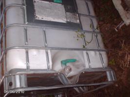 Regentonne 1000L Wasserfass Gitterbox Regenauffangbehälter