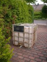 Regenwasser-Auffang Tonne 1000 Liter mit Ablassventil