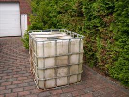 Foto 2 Regenwasser-Auffang Tonne 1000 Liter mit Ablassventil