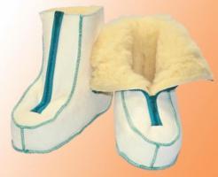 Reha-Schuhe med. Fell mit Reißverschluss