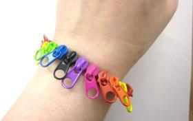 Reissverschluss Armband