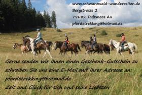 Foto 2 Reiten, Wanderreiten, Pferdetrekking, Urlaub im Sattel, schwarzwald-wanderreiten, Todtmoos Au