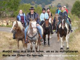 Foto 2 Reiten, Wanderreiten, Reitlager, Tagesritte, Reitferien, Pferdetrekking rund um den Feldberg