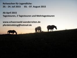 Reitferien in Todtmoos Au, Wanderreiten im Naturpark Südschwarwald
