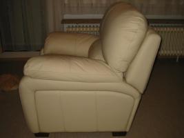 Foto 2 Relax Sessel echt Italienisches Kalbsleder cremfarben