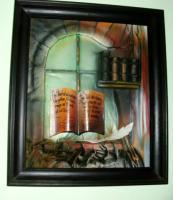 Foto 2 Relievbild (Airbrush auf Leder und Holz)