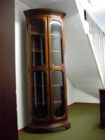 Foto 2 Repräsentative, eintürige englische Eckvitrine im Regency-Stil
