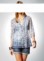 Rick Cardona - Designer-Bluse blau-weiß Gr. 38 - OVP - NEU