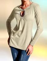 Rick Cardona - Designer-Longshirt sand Gr. 40 - OVP - NEU