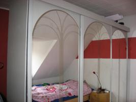 Riesen Kleiderschrank mit Spiegel- Schiebe- Türen