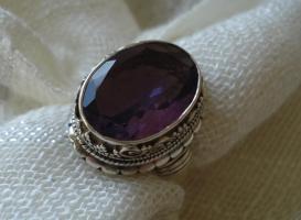 Ring Silber massiv 925 Amethyst