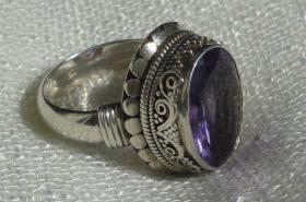 Foto 2 Ring Silber massiv 925 Amethyst