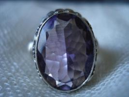 Foto 3 Ring Silber massiv 925 Amethyst
