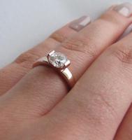 Foto 2 Ring Swarovski 18K Gelbgold Ring mit Kristallen