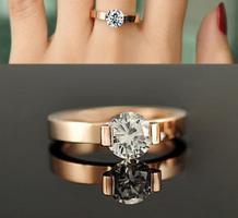 Foto 3 Ring Swarovski 18K Gelbgold Ring mit Kristallen