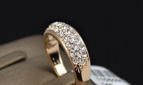 Foto 4 Ring Swarovski 18K Gelbgold Ring mit Kristallen