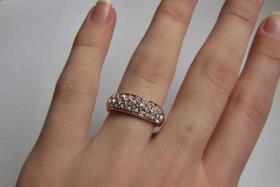 Foto 5 Ring Swarovski 18K Gelbgold Ring mit Kristallen