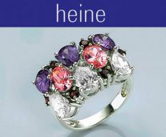 Ring silber-bunt von heine Ring-Gr. 15 - OVP - NEU