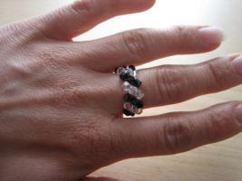 Ringe aus Swarovskiperlen und Filz