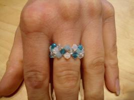 Foto 2 Ringe aus Swarovskiperlen und Filz
