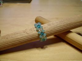Foto 4 Ringe aus Swarovskiperlen und Filz
