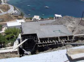 Rohbau auf der Kykladeninsel Kythnos/Griechenland