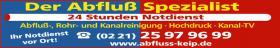 Rohrreinigung Köln Bayenthal 0221-25979699 Rohrreiniger, Abflussreinigung, Klempner, Kanalreinigung,