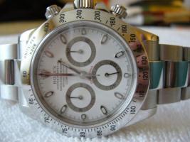 Foto 2 Rolex Daytona Stahl weisses Ziffernblatt