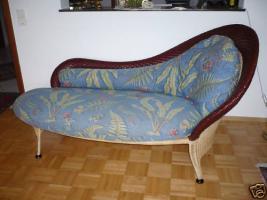Rolf Benz SONDERMODELL Ottomane Recamier Chaiselongues Rattan Leder zum Verkauf.