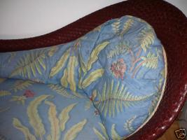 Foto 3 Rolf Benz SONDERMODELL Ottomane Recamier Chaiselongues Rattan Leder zum Verkauf.