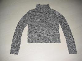 Rollkragen Pullover, grau melliert, Gr. 36